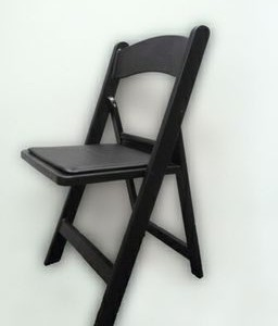 Black Americana Folding Chair