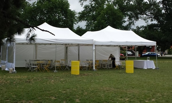 6m x 12m Marquee in the Park