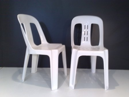 Bisto Chair White Palastic Molded Comercial Grade Quality