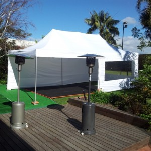 Marquee, Dance Floor and Heaters