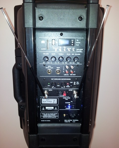 Rear of PA System