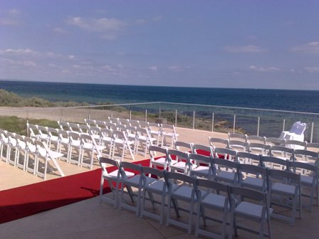 Wedding Set Up at Sandy Yacht Club